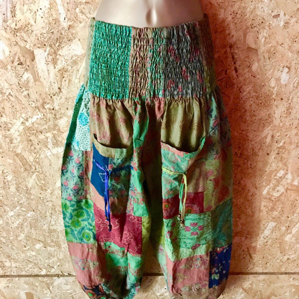 Veg Dye Cotton Patchwork Aladdin Pants by Hippy Buddy
