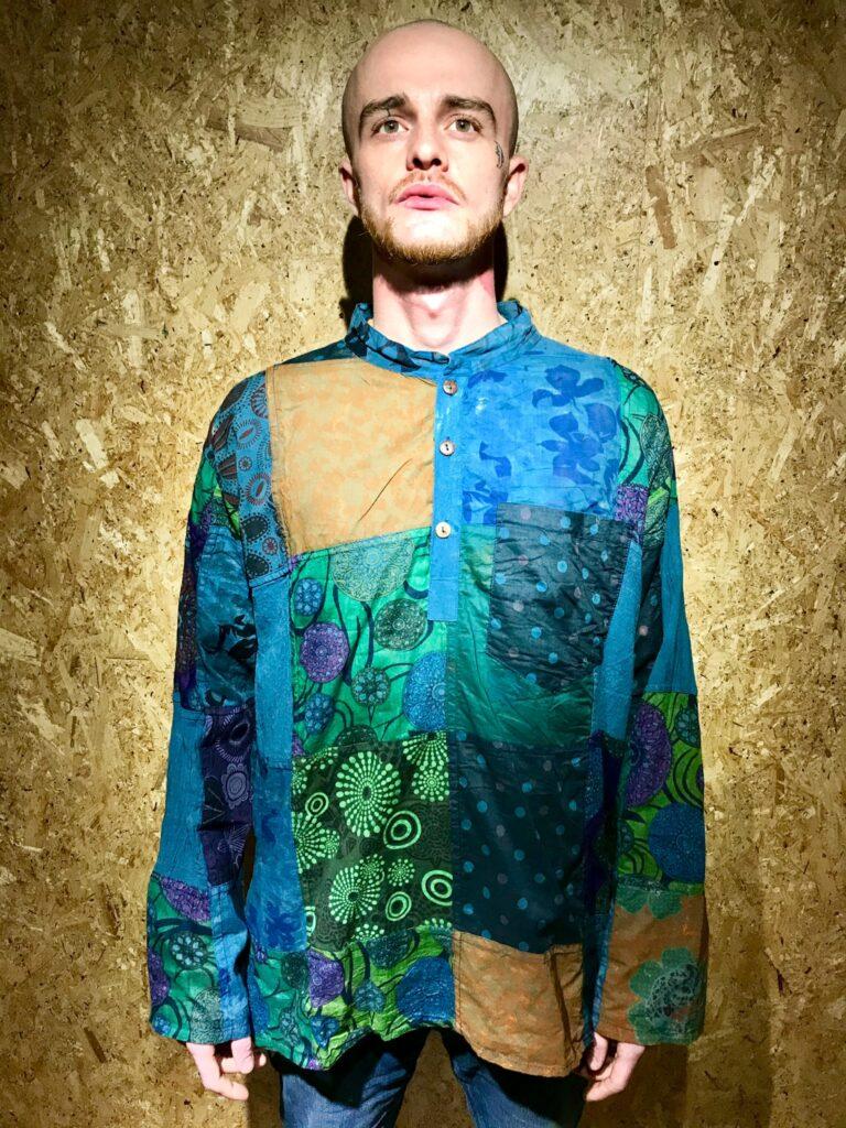 Cotton Patchwork Multi Shirt by Gringo