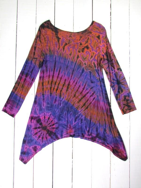 Viscose Tie Dye Tunic-Top by Gringo