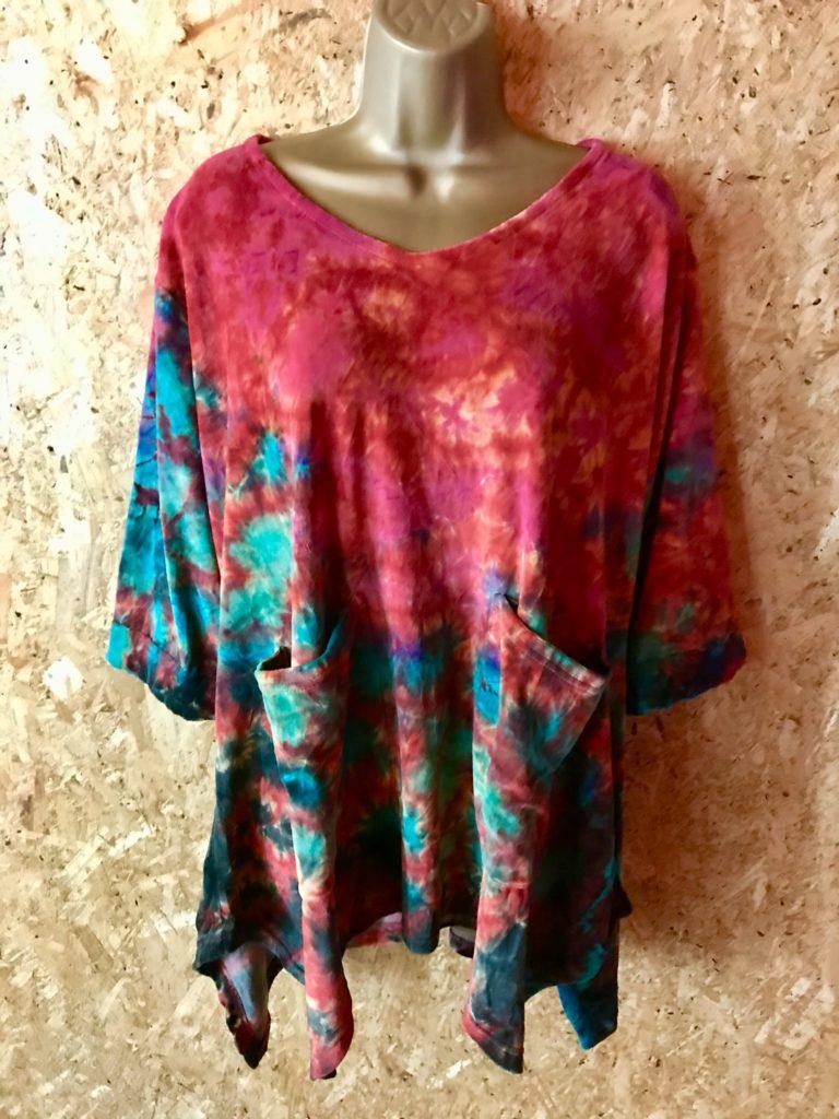 Cotton Velvet Tie Dye Tunic Top by Gringo