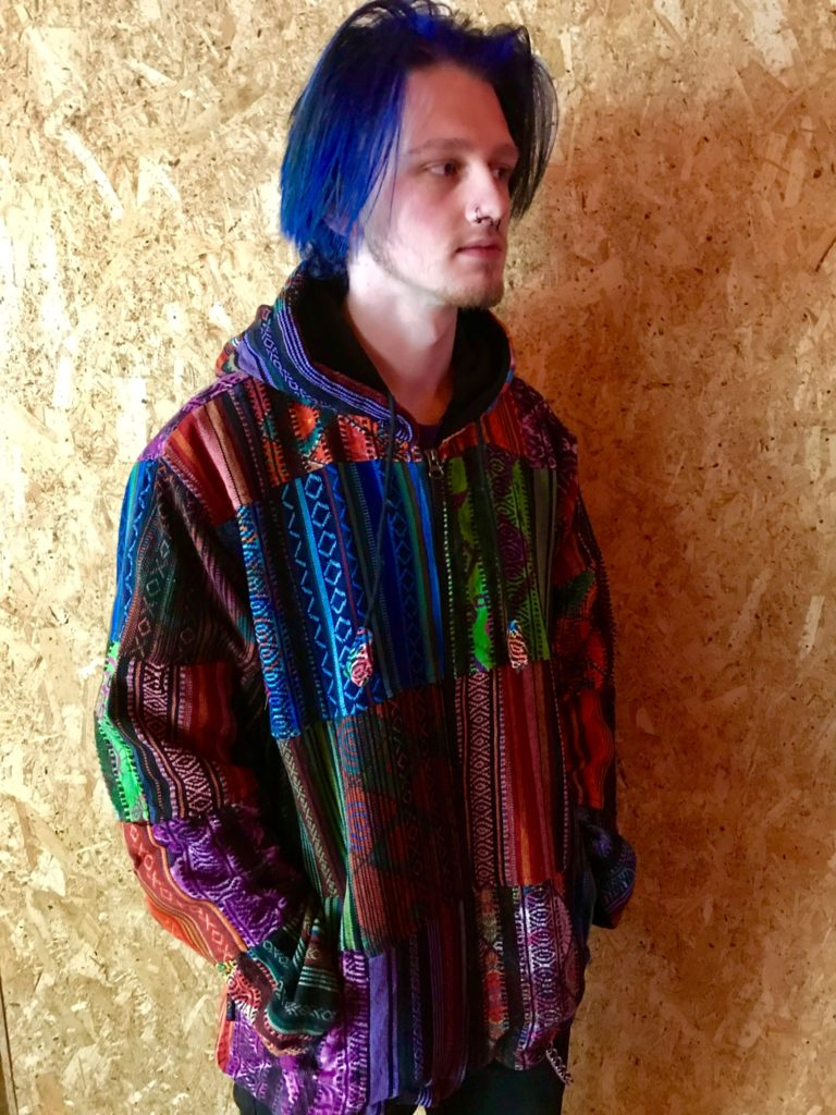 Fleece lined Multi Patchwork Jacket by Gringo