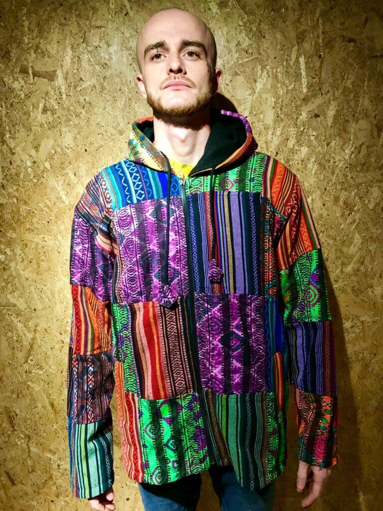 Fleece lined Multi Patchwork Jacket by Gringo