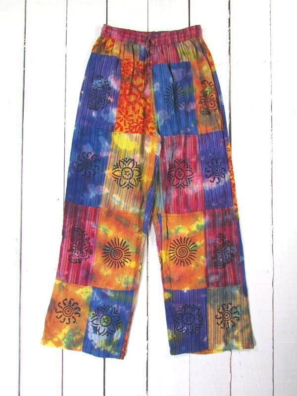Tie Dye Patchwork Pants