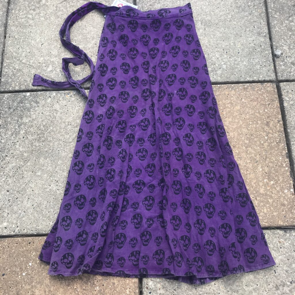 Screen Print Long Wrap Skirt by Gringo