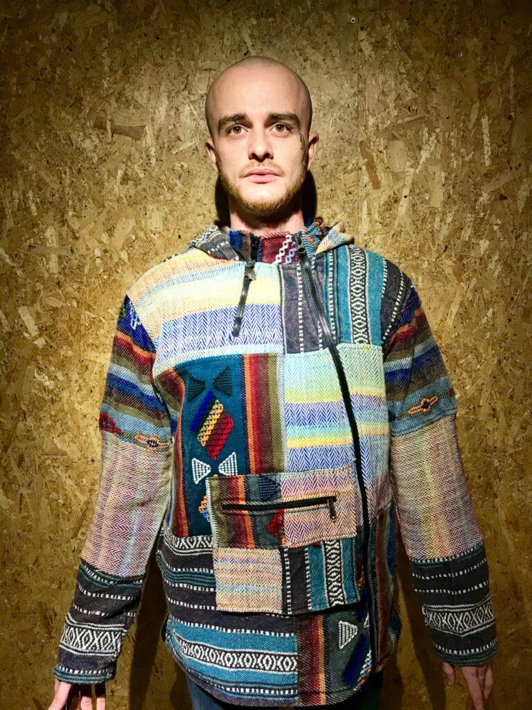 Nepalese Patchwork Side Zip Fleece Lined Jacket by Little Kathmandu