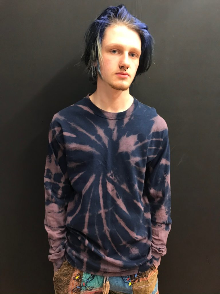 Striped Out Tie Dye Long Sleeved Tee by Hippy Buddy