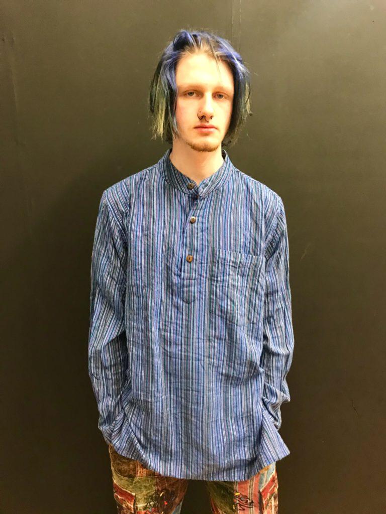 Cotton Nepalese Stripe Grandad Shirt