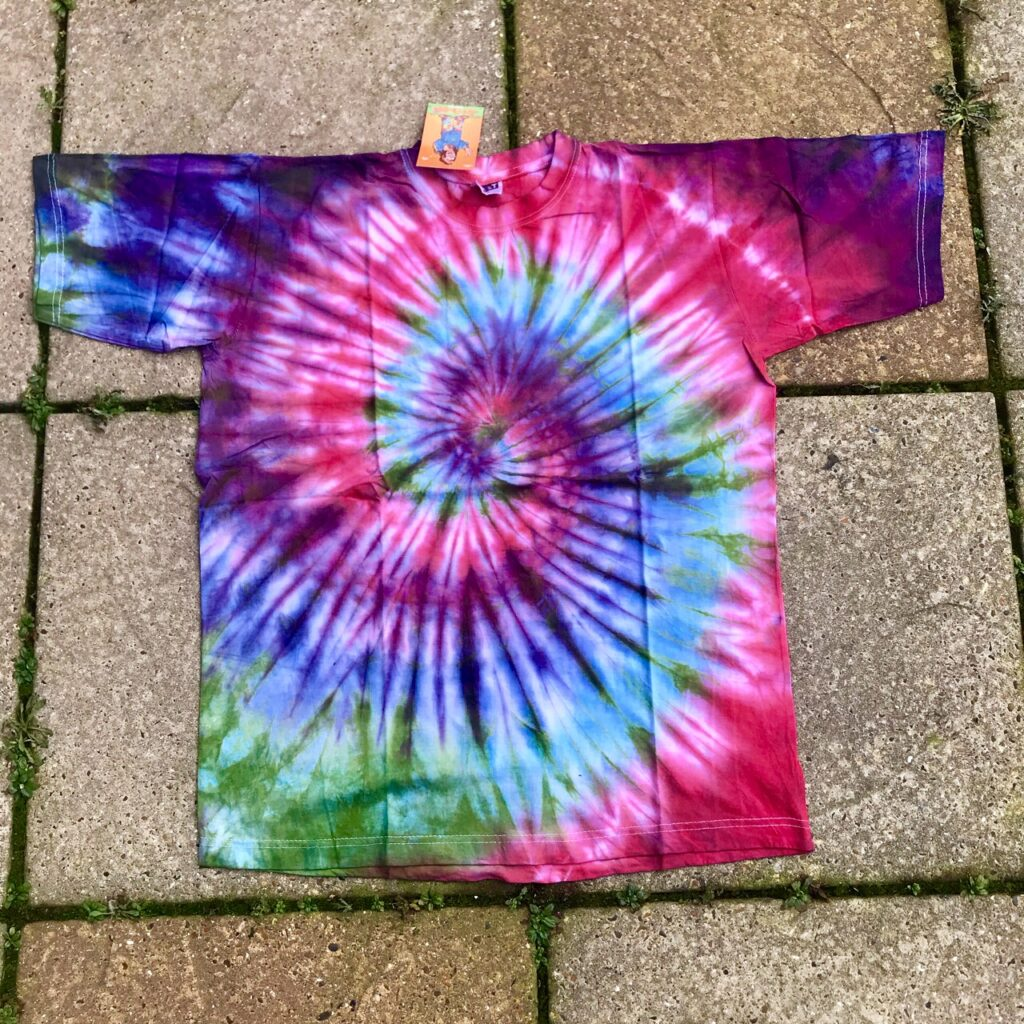 Assorted Tie Dye Cotton Tee Shirts by Hippy Buddy