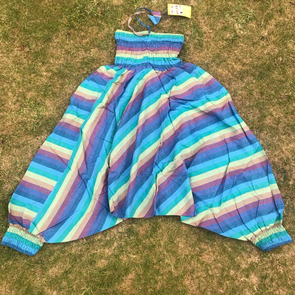 Nepalese Turquoise  Rainbow Stripe Harems