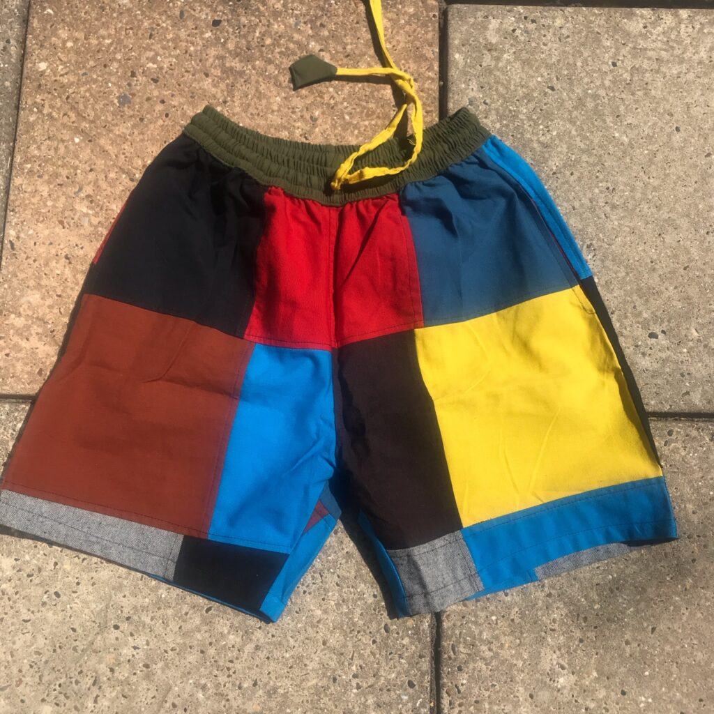 Nepalese Patchwork Cotton Shorts