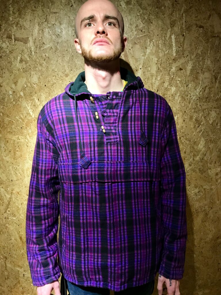 Fleece Lined Hooded Checked Jacket by Gringo