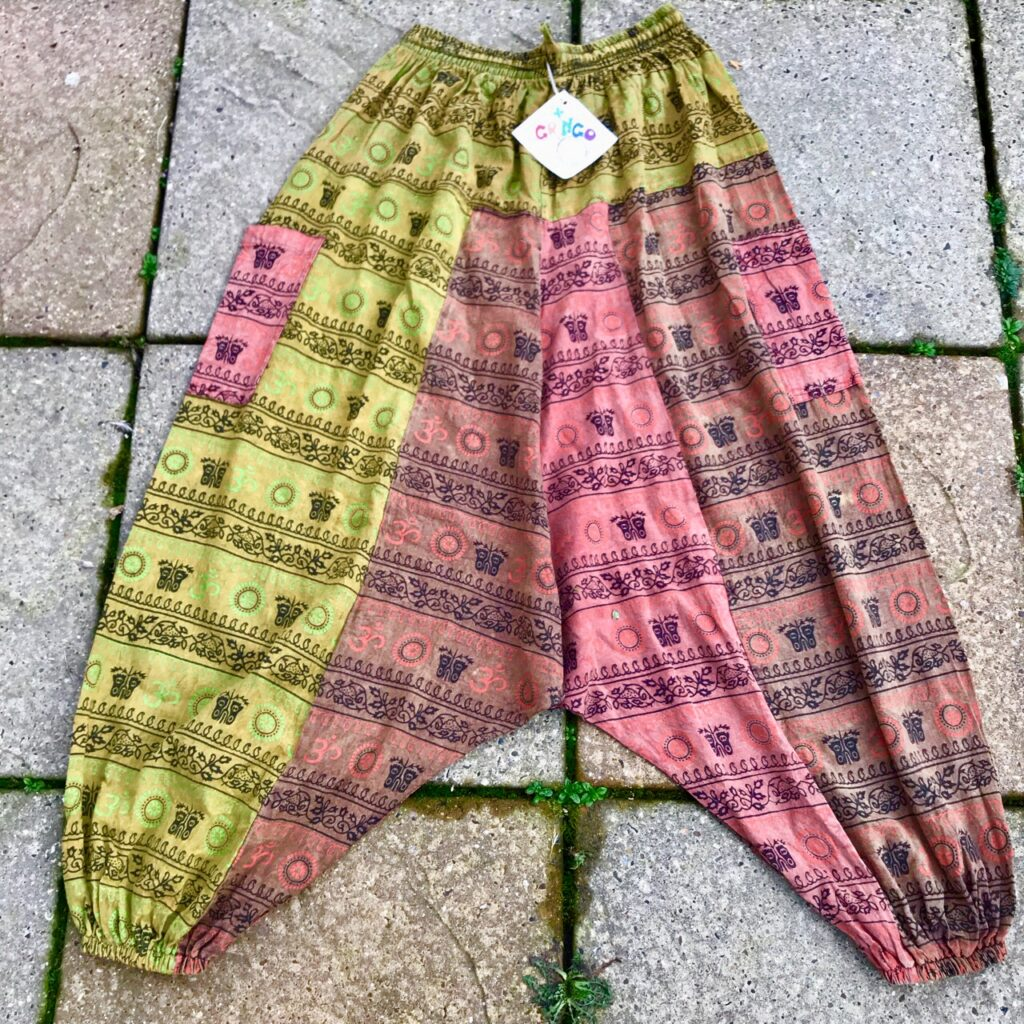 Nepalese Print Patchwork Harems Pants by Gringo