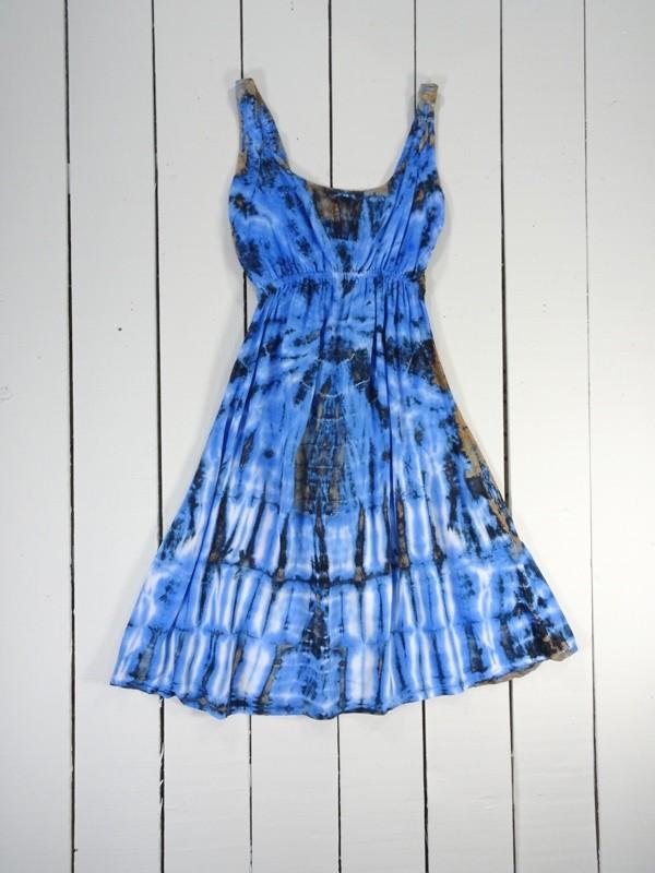 Tie Dye Strappy Short Dress by Gringo