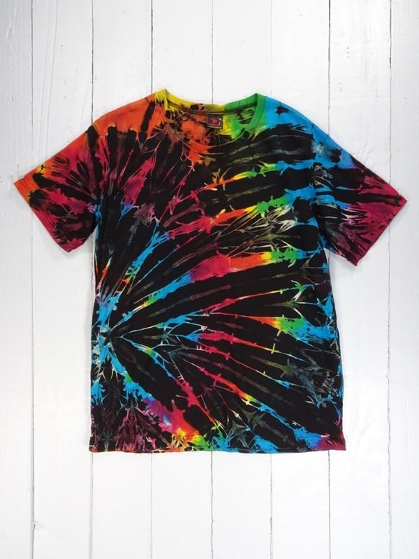 Black-Rainbow Tie Dye Tee by Gringo