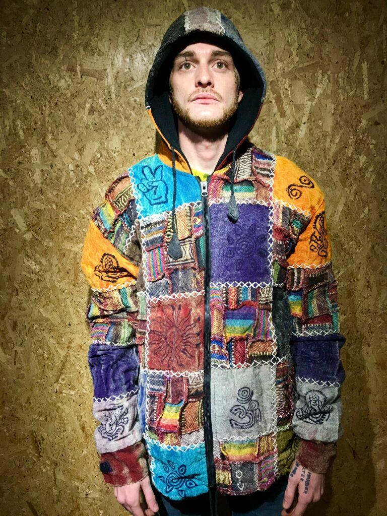 Nepalese Fleece Lined Patchwork Jacket