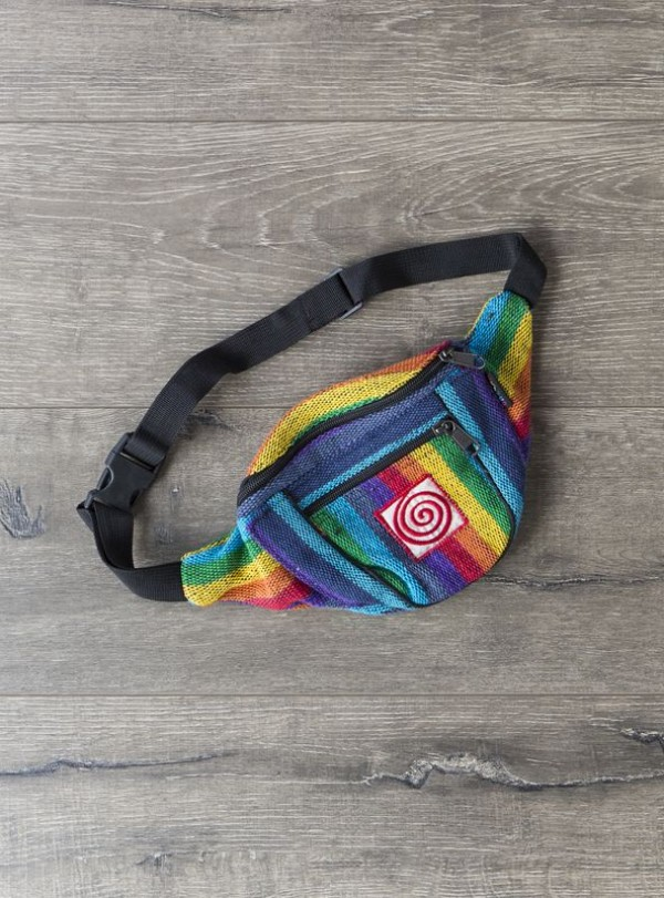 Cotton Gheri Rainbow  Bum Bag by Gringo