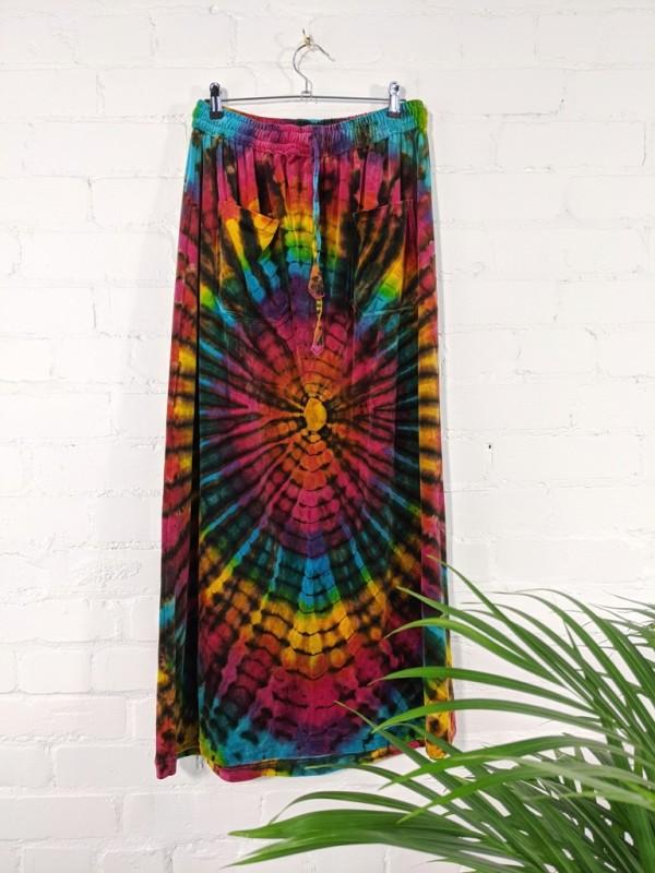 Velvet Tie Dye Long Skirt