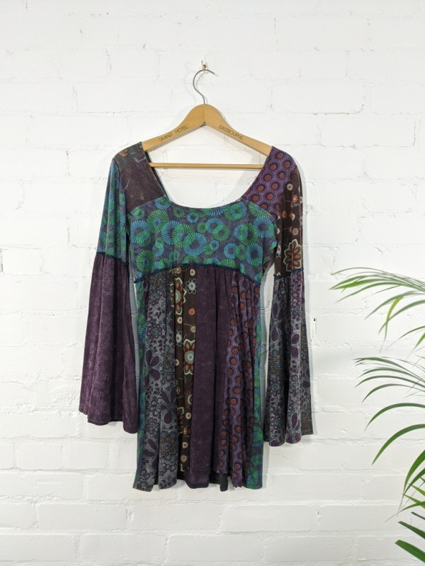 Assorted Multi Patchwork Long Sleeve Top by Gringo
