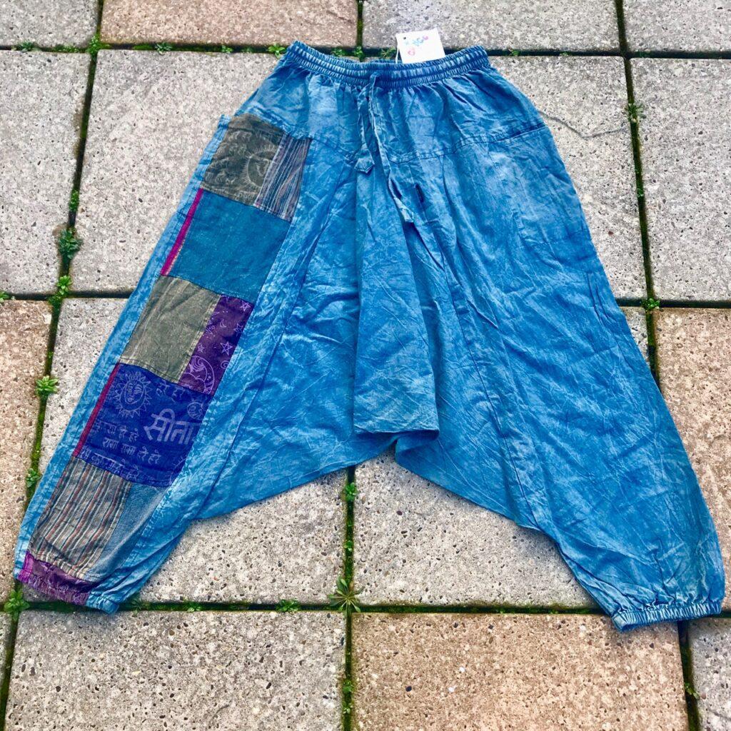 Cotton Patchwork Panel Harem  Pants by Gringo