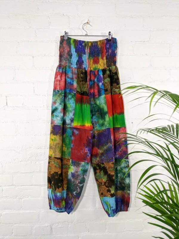 Patchwork Tie Dye Harems