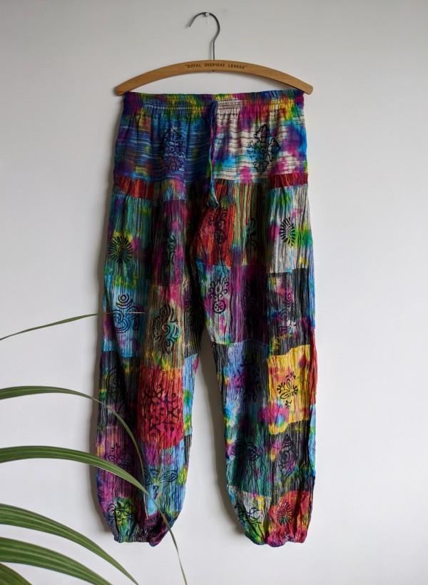 Tie Dye Aladdin Pants