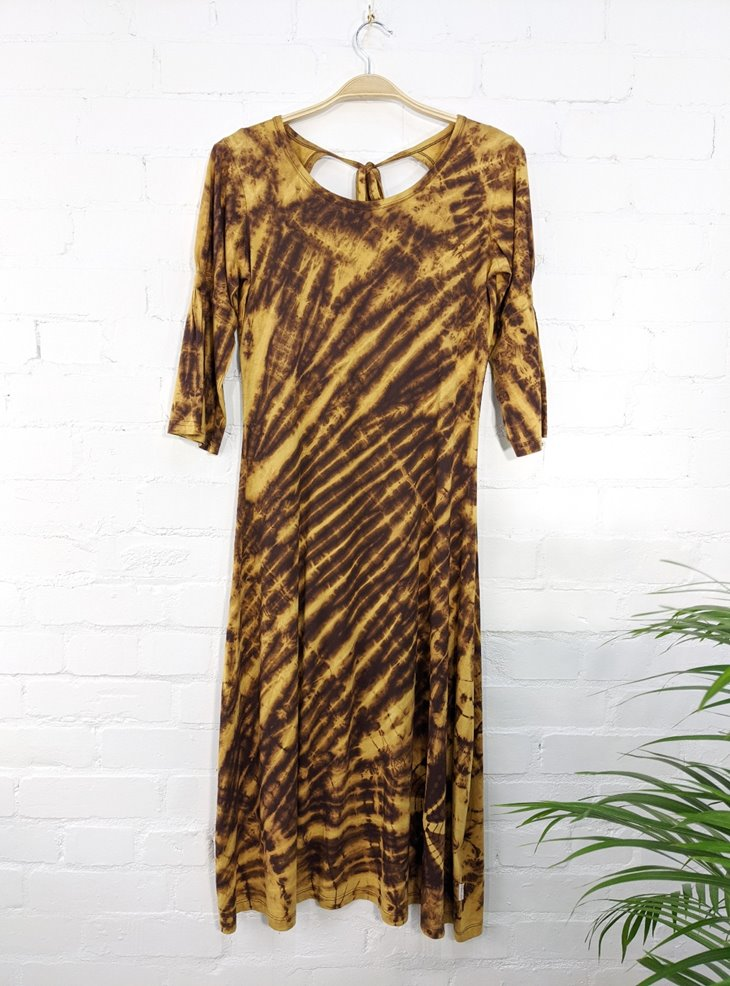 Cotton Sinka Tie Dye Long Dress by Gringo