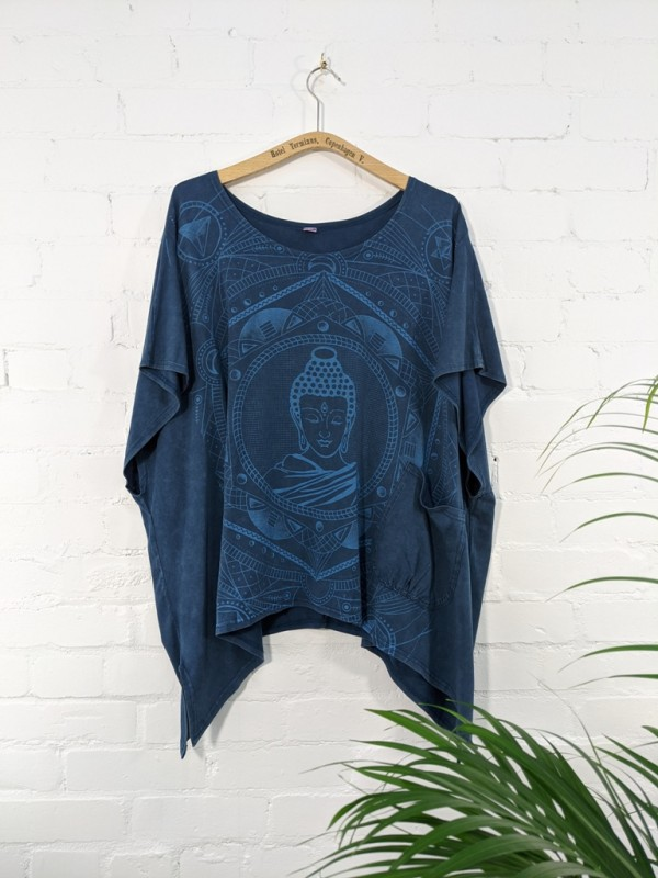 Cotton Sinka Buddha Poncho Top by Gringo