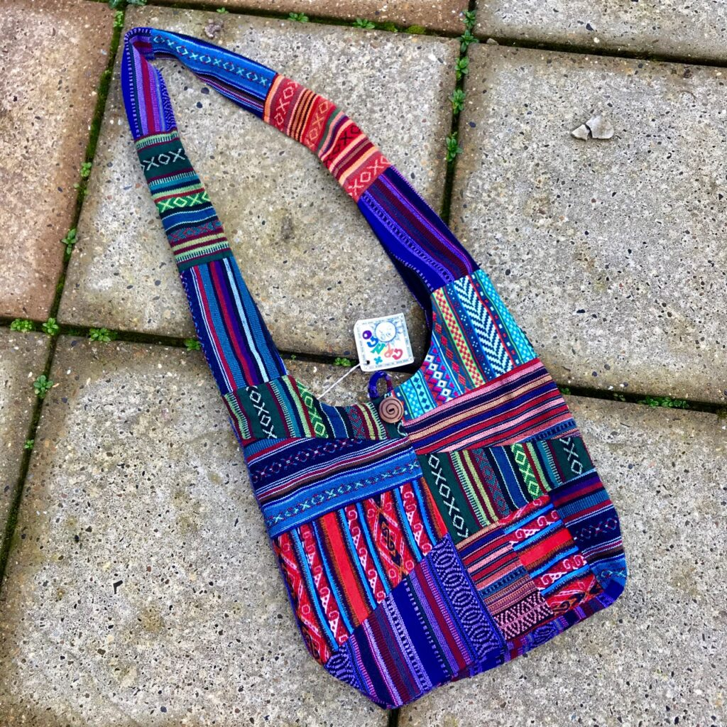Cotton Gheri Patchwork Shoulder Bag by Gringo