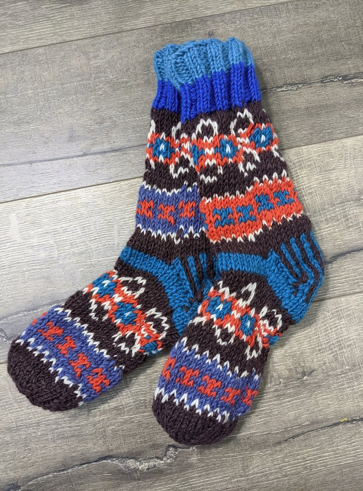 Full Fleece Lined Assorted Multi Knit Socks