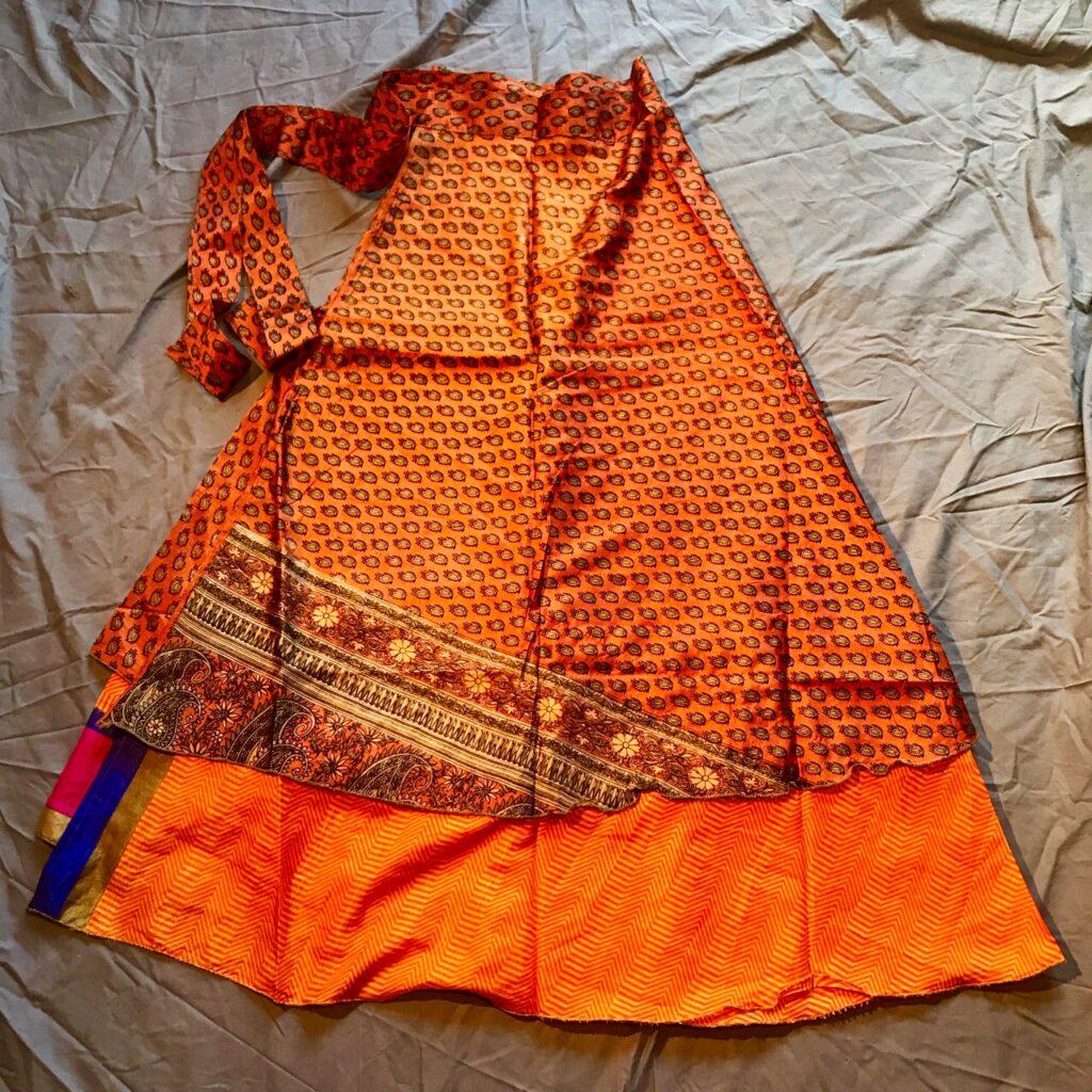 Assorted Indian Sari 2 Layer Wrap Skirts