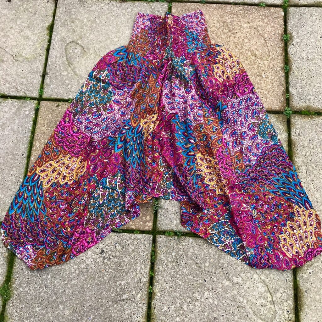 Peacock Print Harem Pant-Jumpsuit