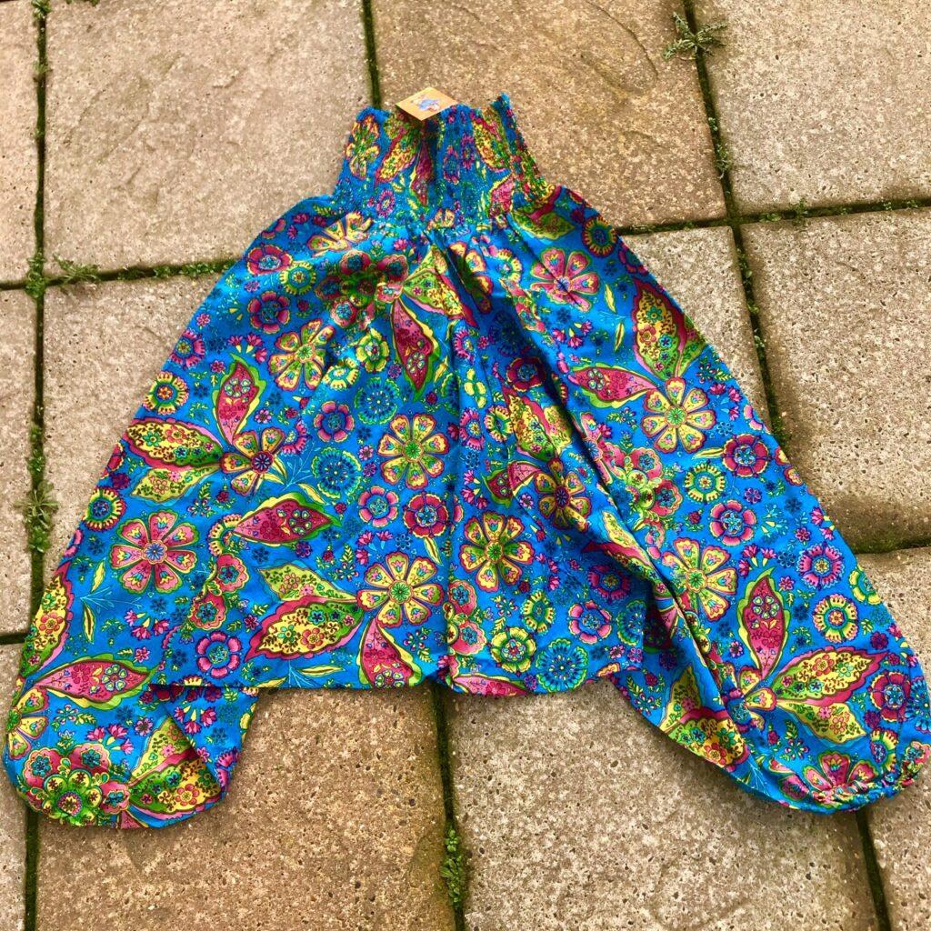 Cotton Flower Print Harem Pants by Hippy Buddy