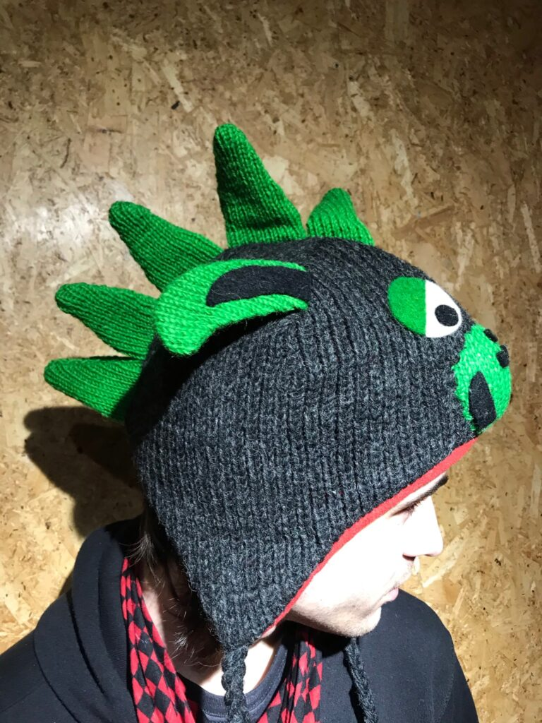 Nepalese Black Dragon Wool Hat