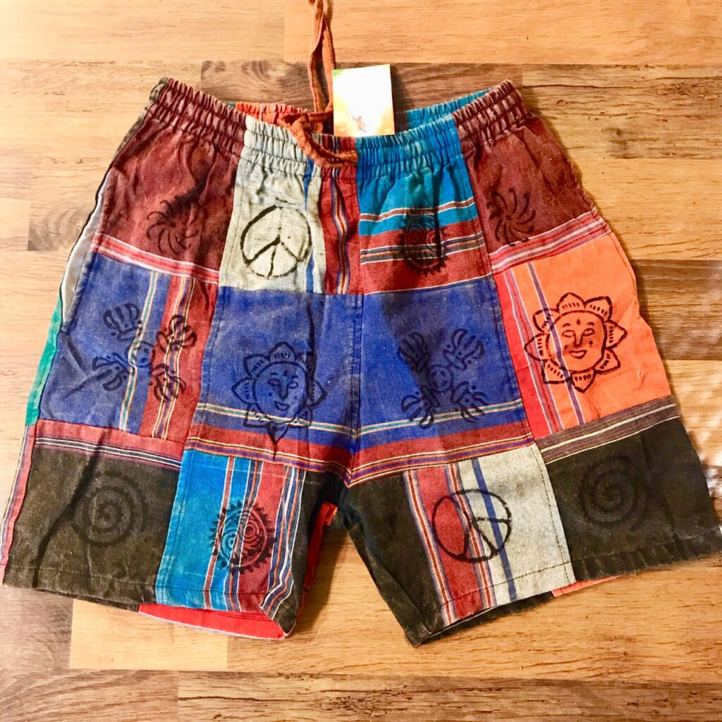 Nepalese Cotton Patchwork Shorts