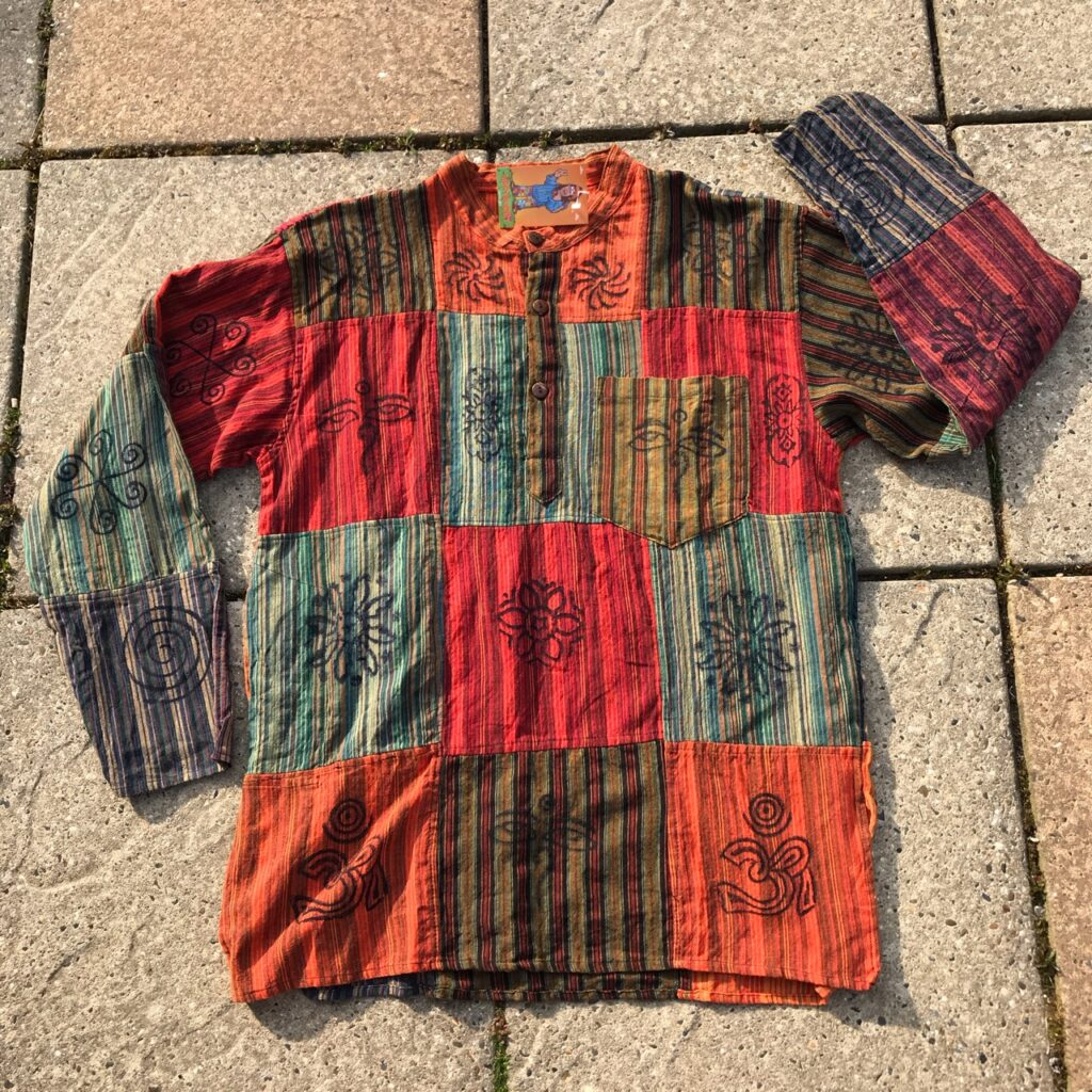 Nepalese Cotton Patchwork Shirt by Hippy Buddy