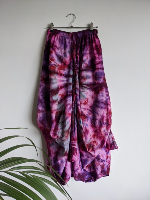 Cotton Assorted Tie Dye Balloon Style Skirt by Gringo