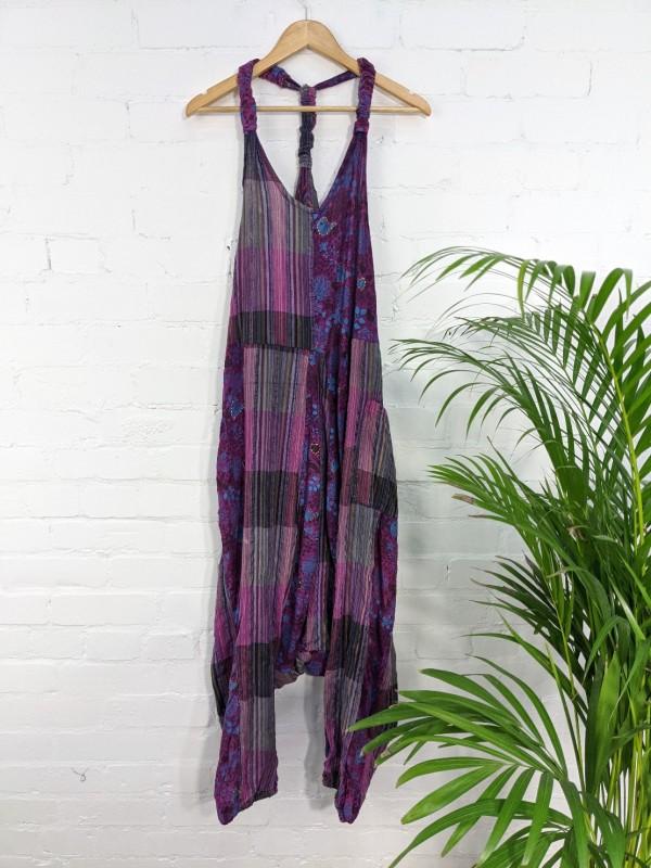 Purple patchwork Jumpsuit