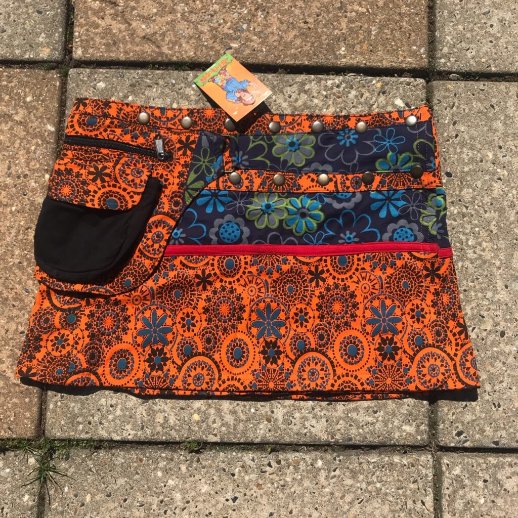 Nepalese Patchwork Assorted Wrap Short Skirt