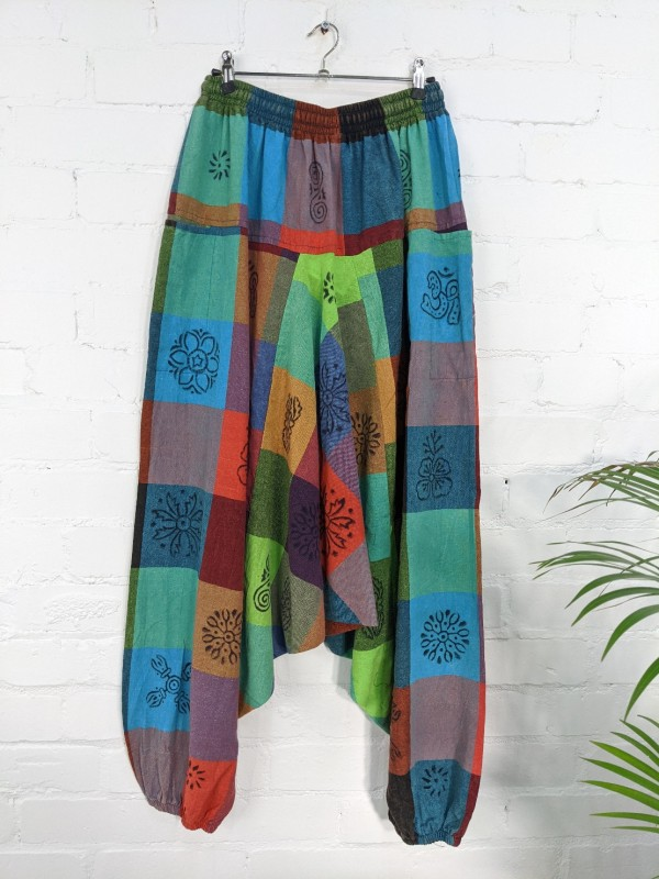 Nepalese Cotton Patchwork Print Harems by Gringo