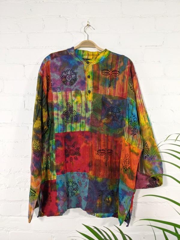Tie Dye Patchwork Shirt