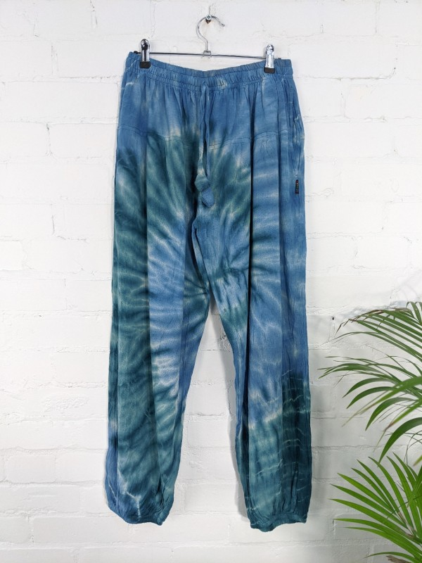 Cotton Nepalese Blue Tie Dye Harems by Gringo