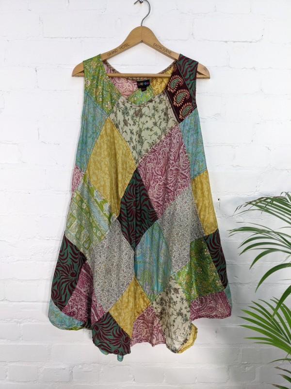 Patchwork Sari Dress