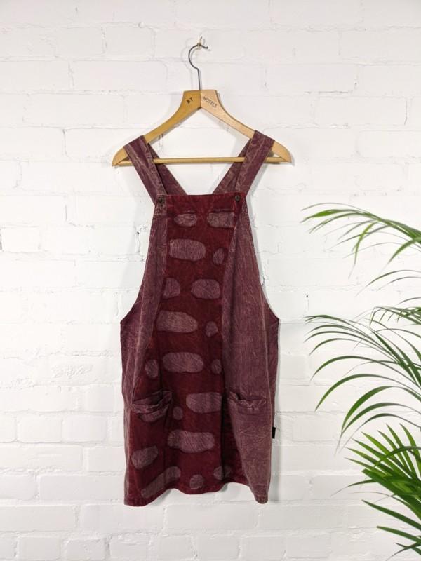 Circle Detail Dungaree Dress by Gringo