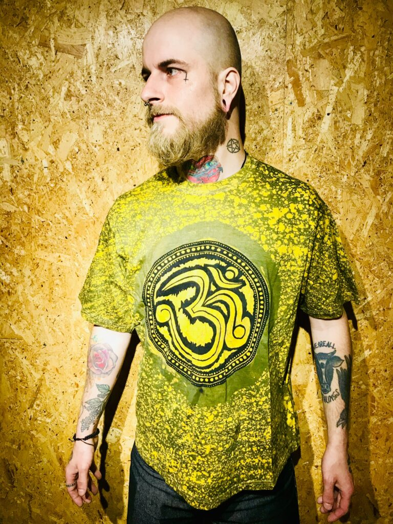 Bleached Out Assorted Screen Print Tee Shirts by Hippy Buddy