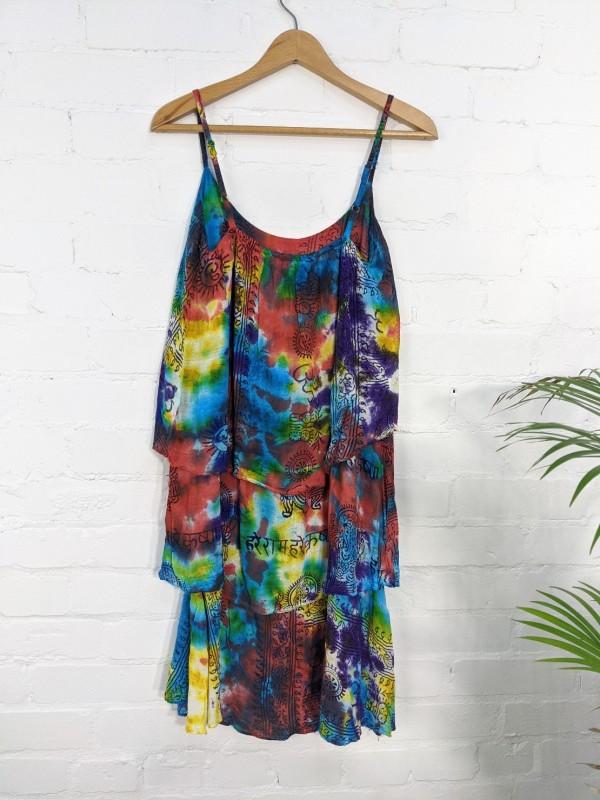 Tie Dye 2 Layer Strappy Dress