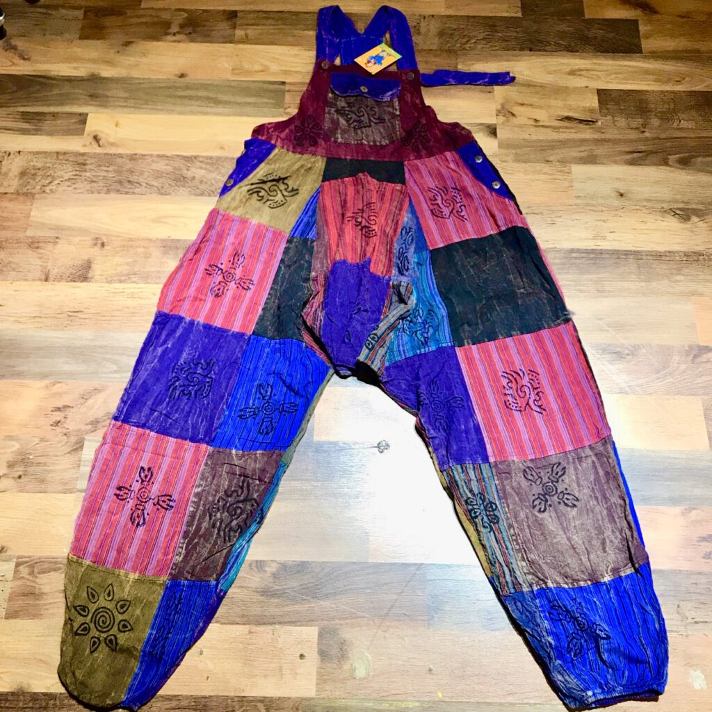 Nepalese Patchwork Harem Dungarees