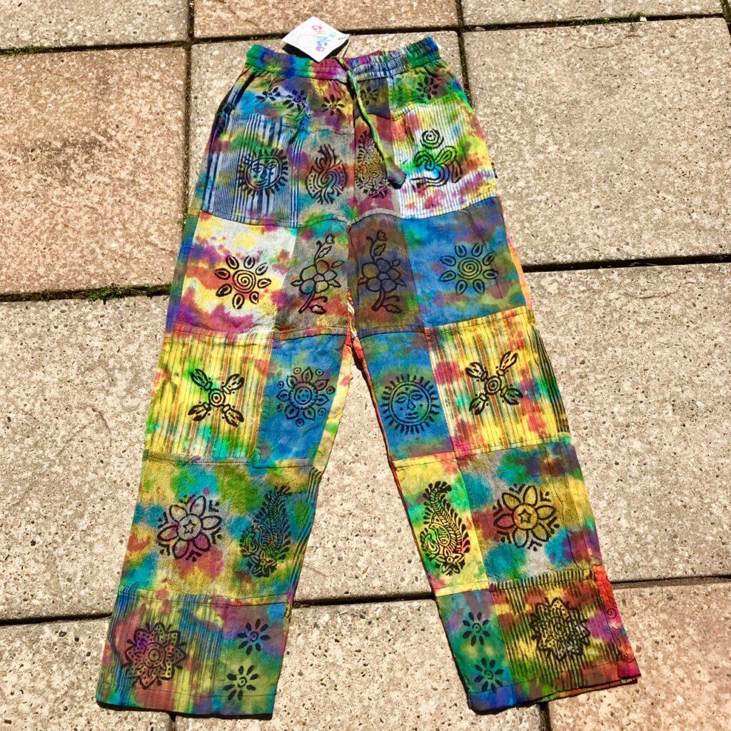 Patchwork-Tie Dye Straight Leg Pants by Gringo