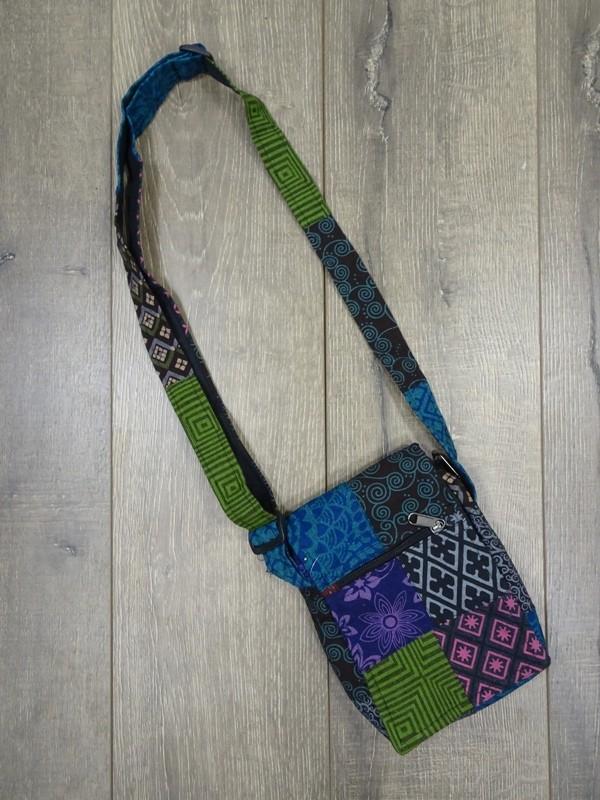 Cotton Patchwork Small Bag 22x18cms