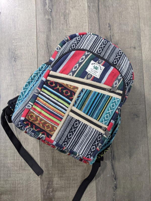 Cotton Gheri Patchwork Backpack by Gringo