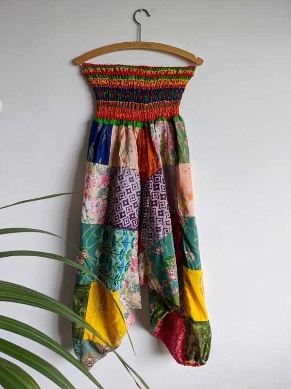 Cotton Bright Patchwork Harem Pants by Gringo